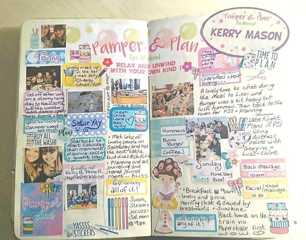 journal creatif idee page