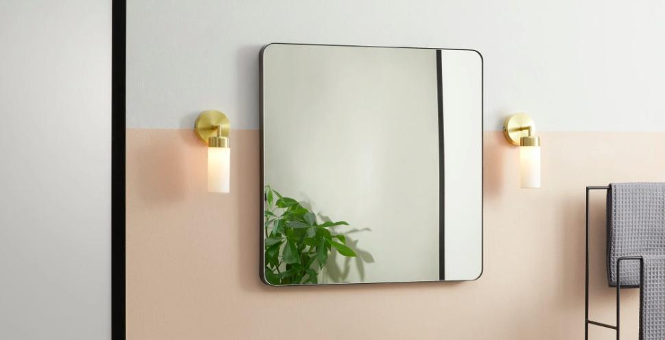 luminaire dore applique miroir