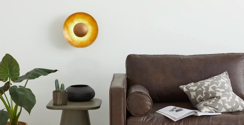 luminaire dore applique originale