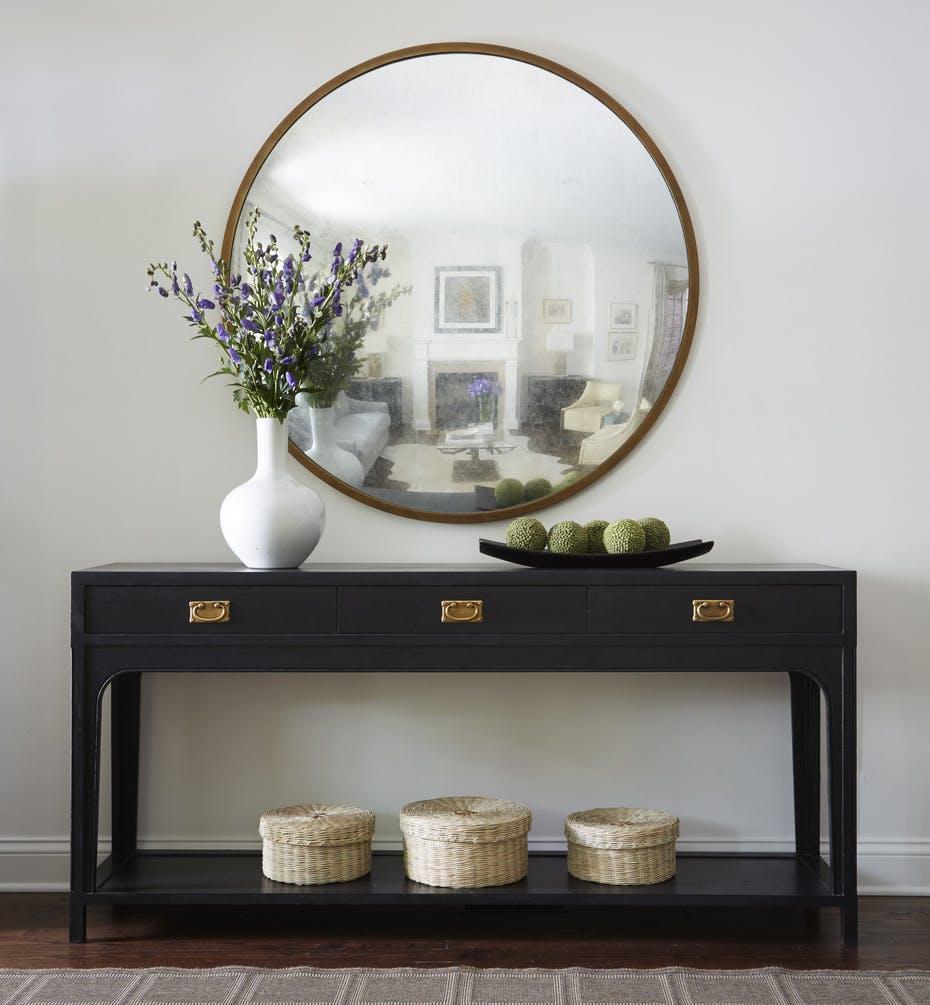 miroir entree console classique deco