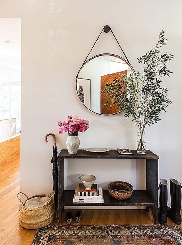 exemple décoration intérieure entrée -  miroir entree idee decoration tendance