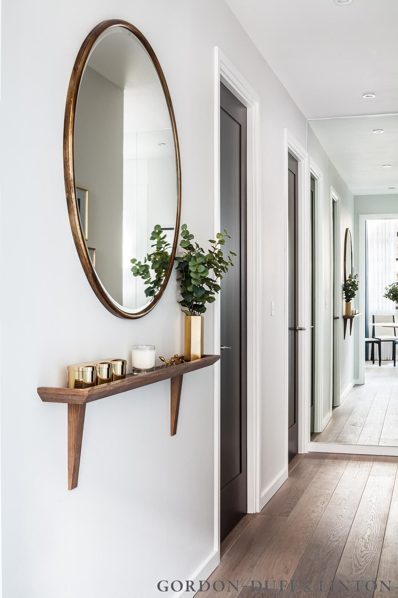 miroir entree petite etagere gain de place