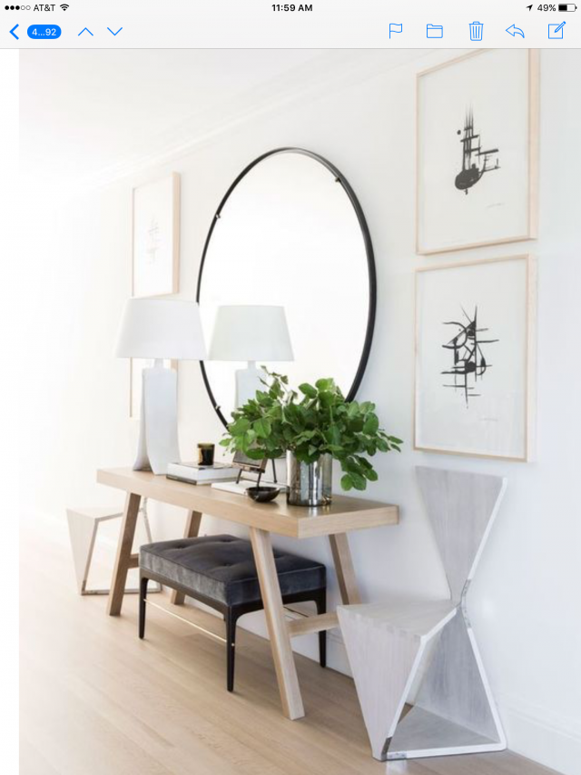 exemple décoration intérieure entrée -  miroir entree tendance epuree