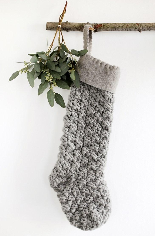 noel minimaliste idee recup chaussette
