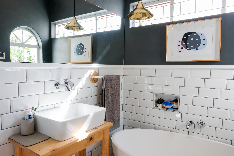 petite salle de bain deco couleur