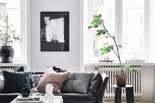 salon noir idee conseil decoration couleur