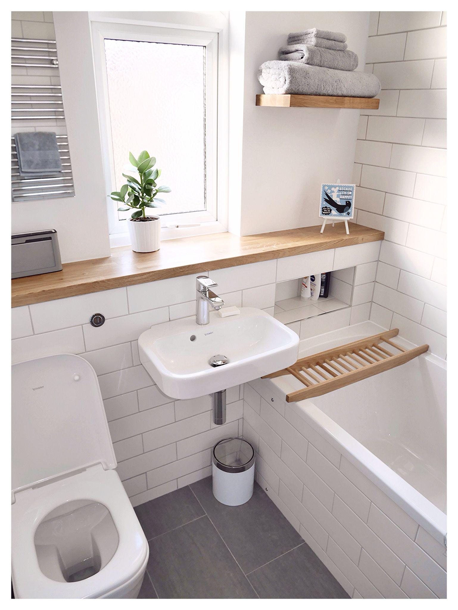 tres petite salle de bain baignoire amenagement