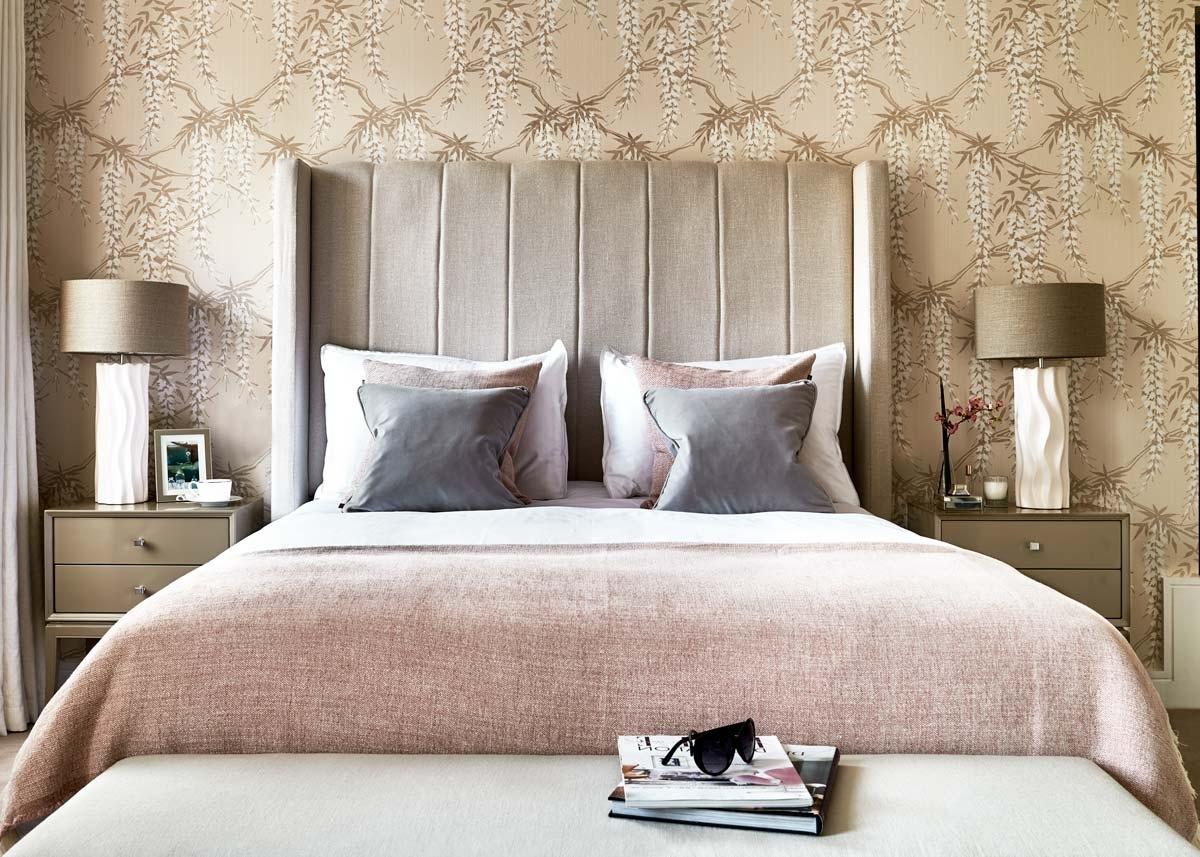chambre deco elegante beige rose