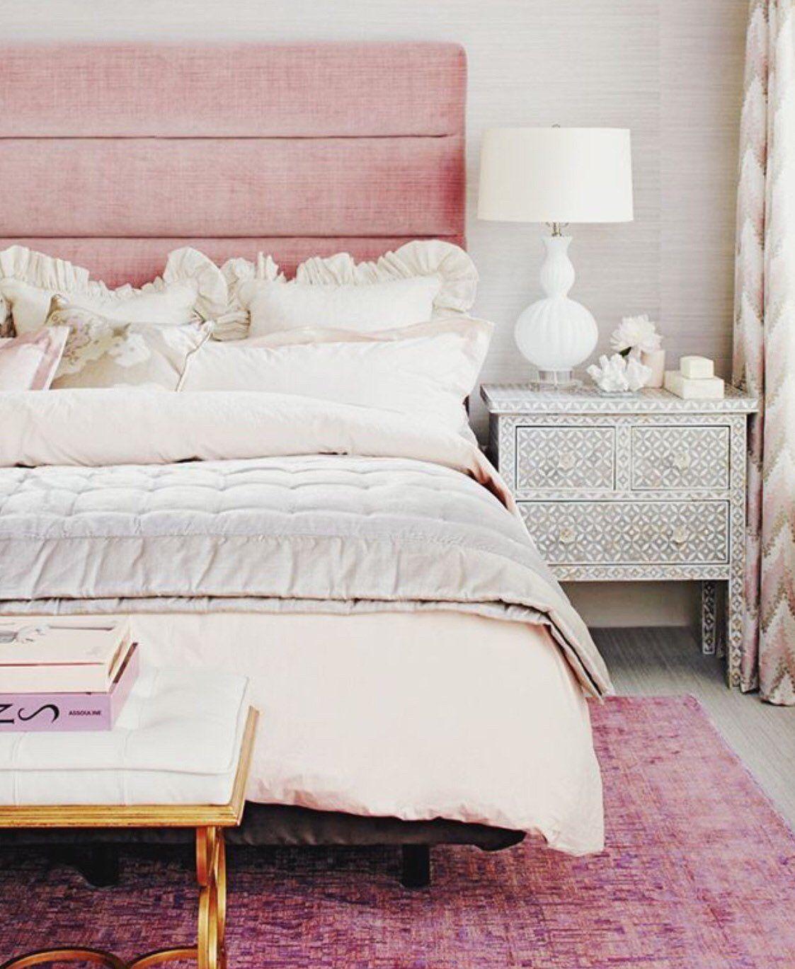 chambre deco elegante feminine simple