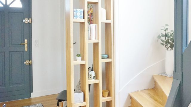claustra entree bibliotheque idee amenagement