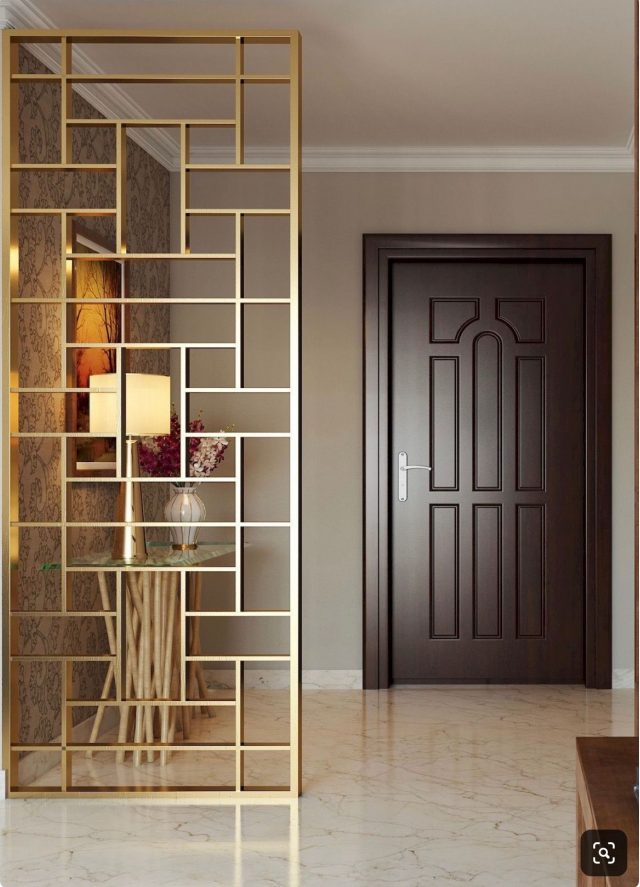 claustra entree metal dore elegant