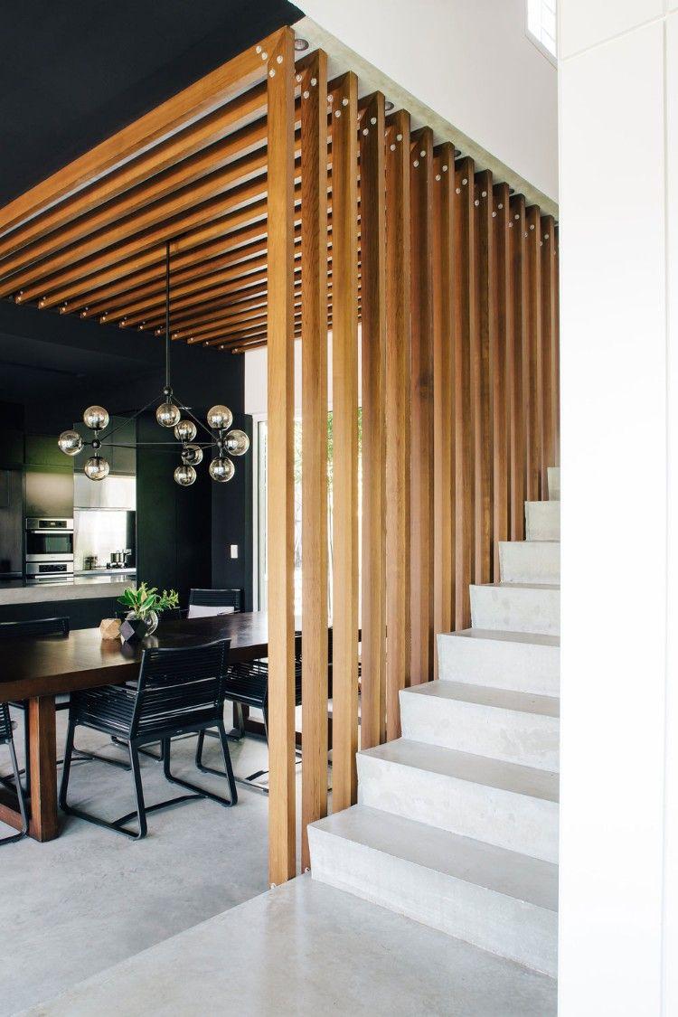 claustra escalier separation idee piece de vie