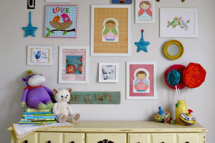 deco chambre enfant idee cadre decoration murale