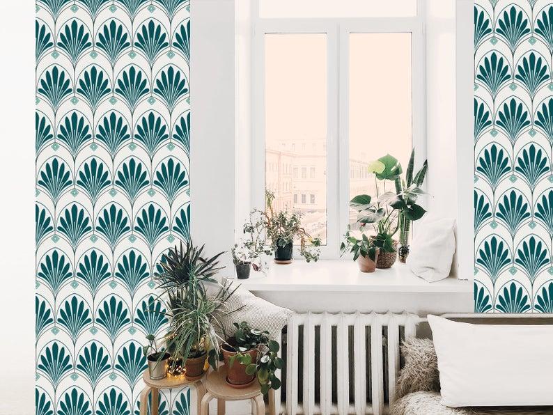 papier peint chambre motif art deco