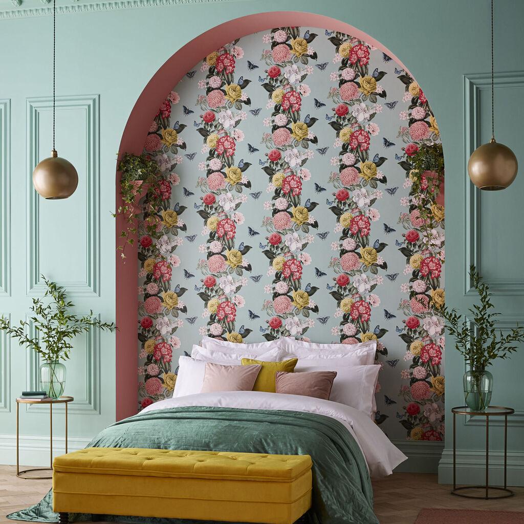 papier peint chambre motif floral
