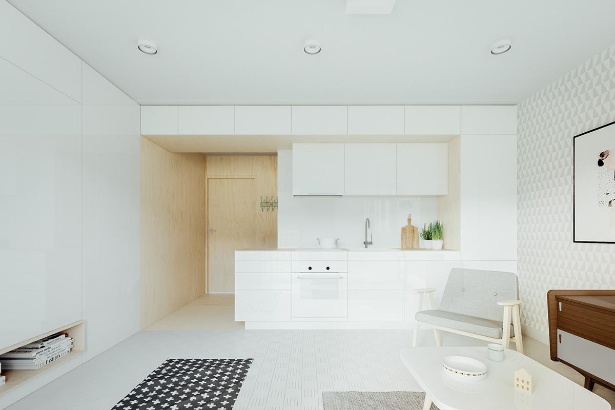 slow interieur cuisine rangement minimaliste