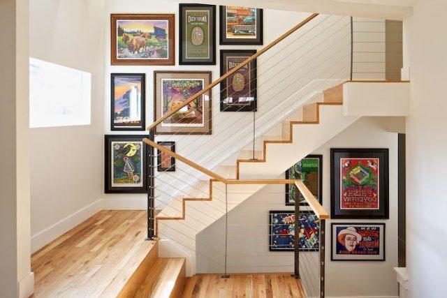 cadre deco entree escalier idee decoration