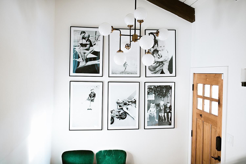 cadre deco entree noir et blanc photo