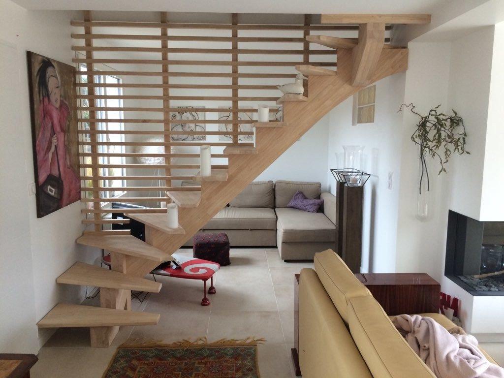 claustra salon cloison escalier
