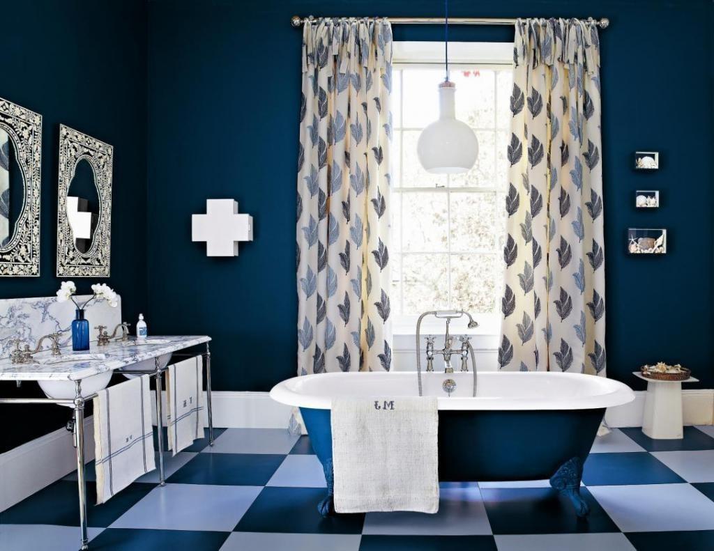 couleur sombre salle de bain bleu foncee