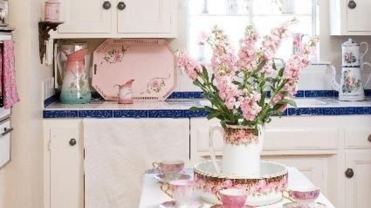 cuisine elegante feminine shabby chic rose