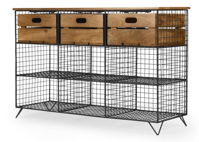 entree meuble industriel bois metal chaussure