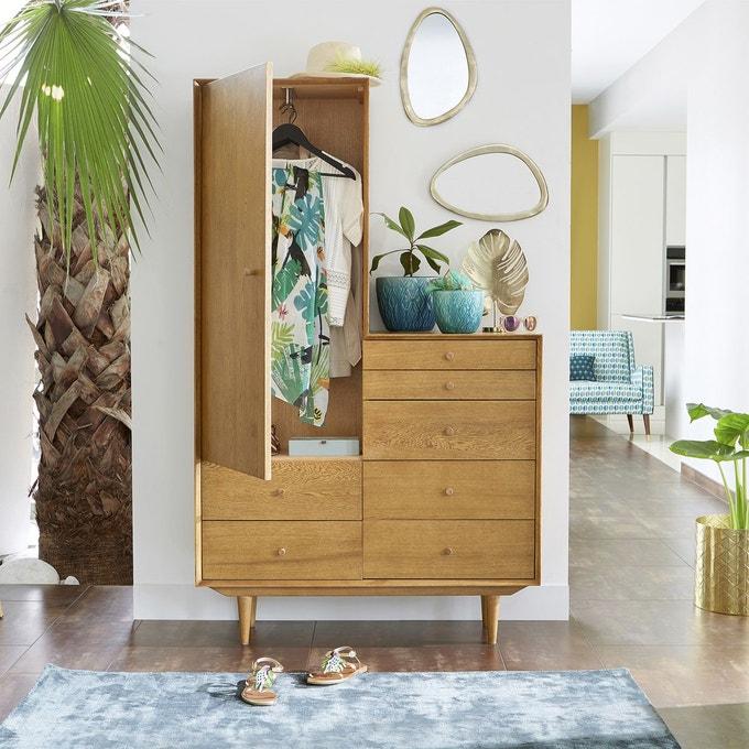 meuble entree pratique chene clair