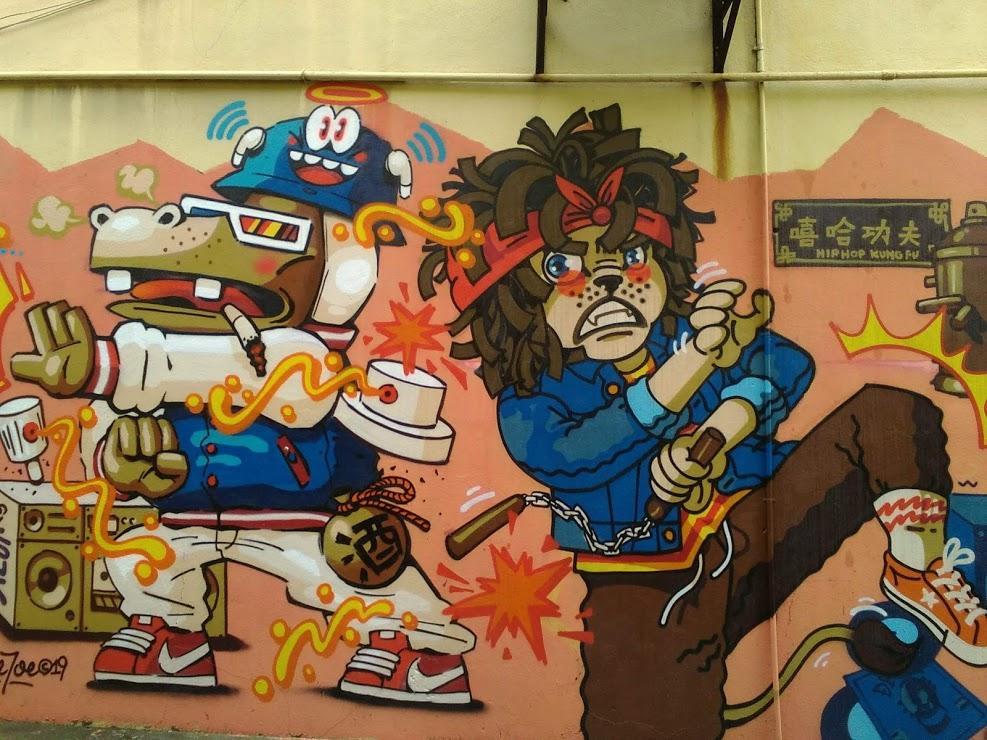 nomadisme Kuala Lumpur streetart