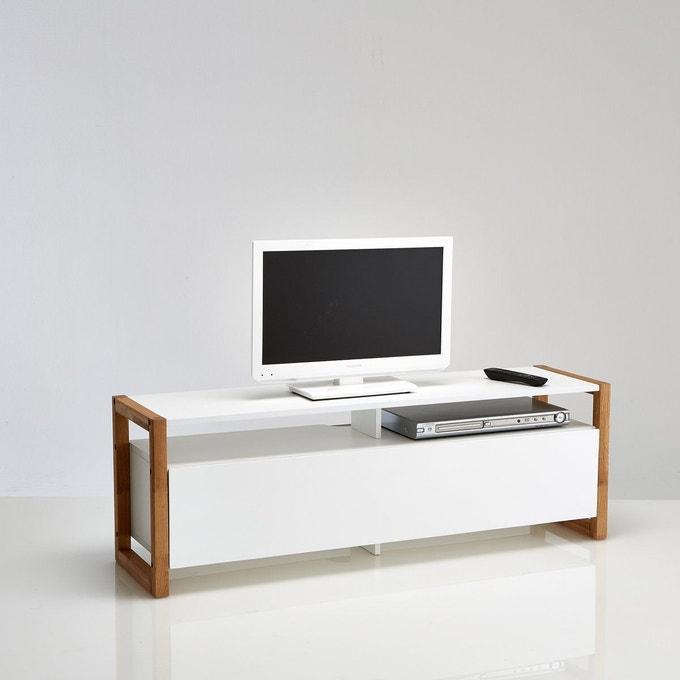 petit meuble tv bois et blanc