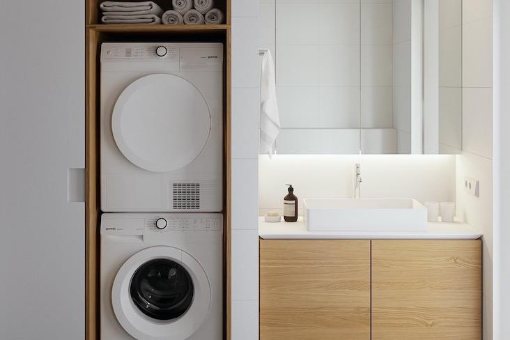 salle de bain buanderie place machine a laver