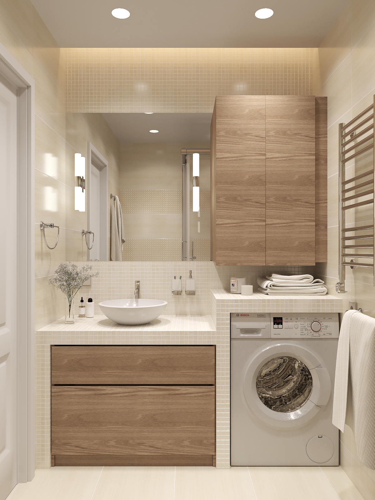salle de bain machine a laver buanderie