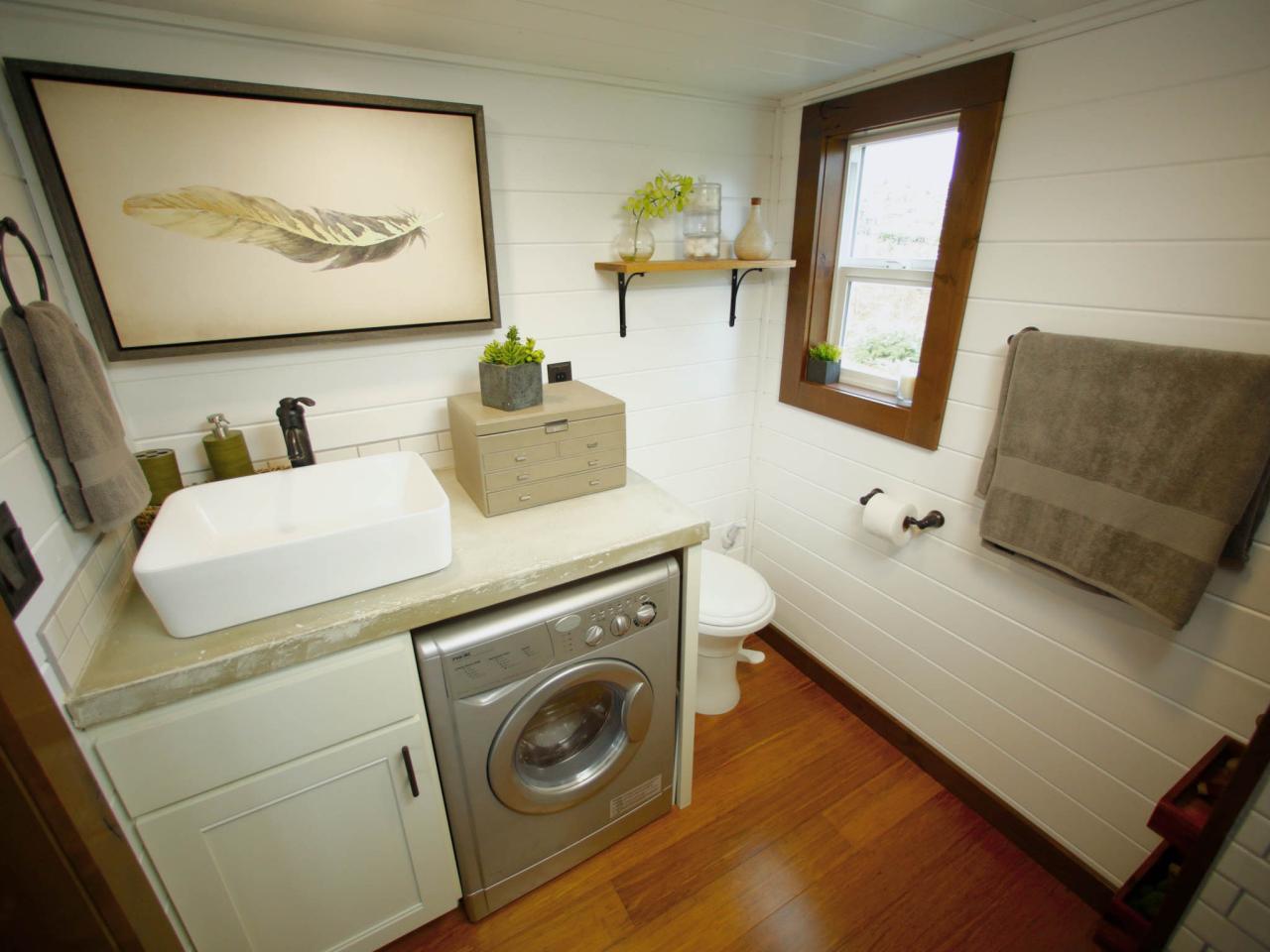 salle de bain petit espace machine a laver