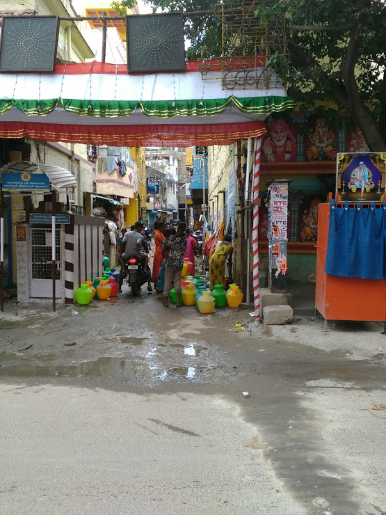vie nomade chennai scene quotidienne eau