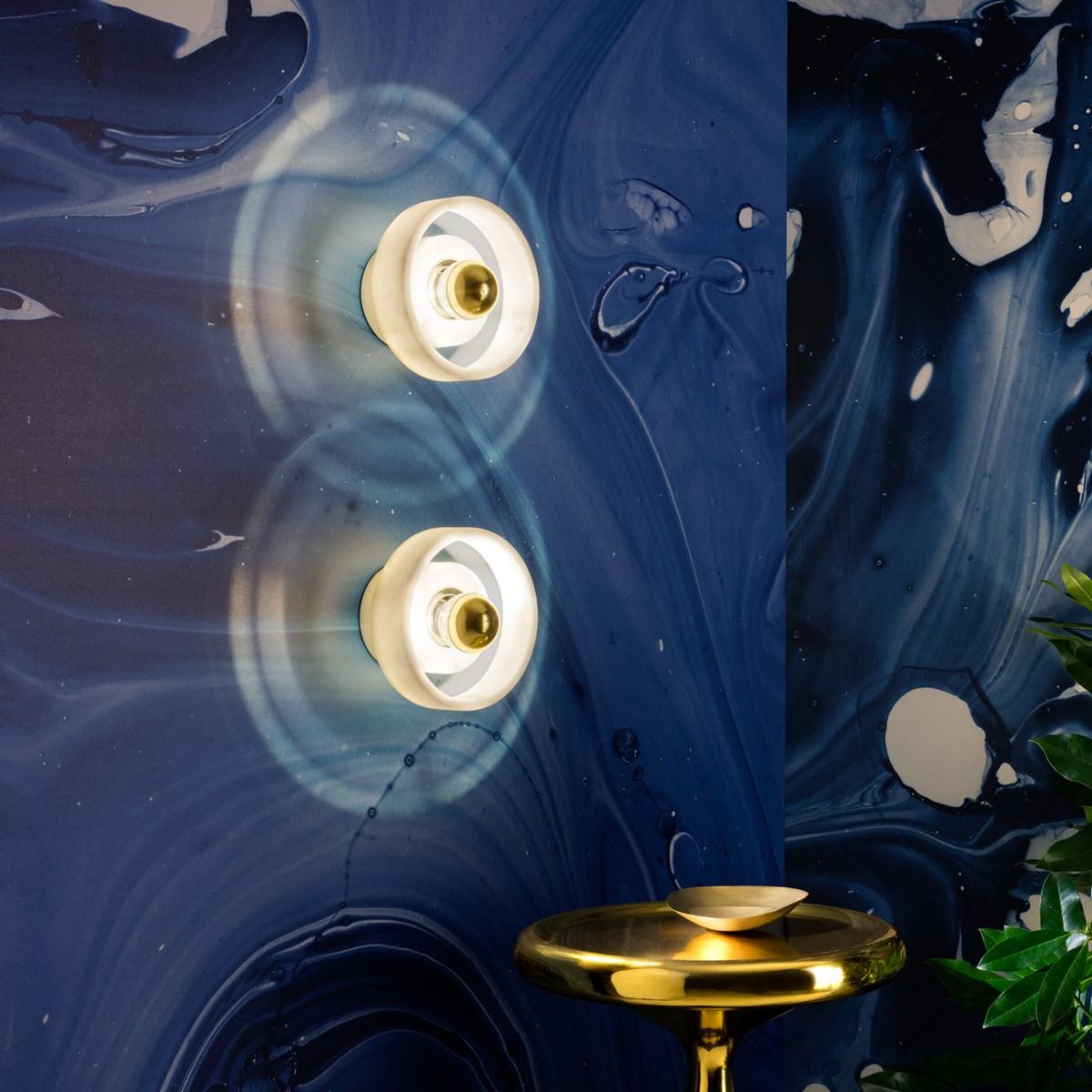 applique murale deco ronde marbre