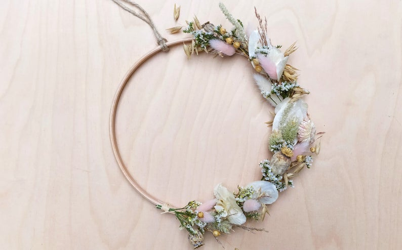 deco fleur sechees couronne made in france