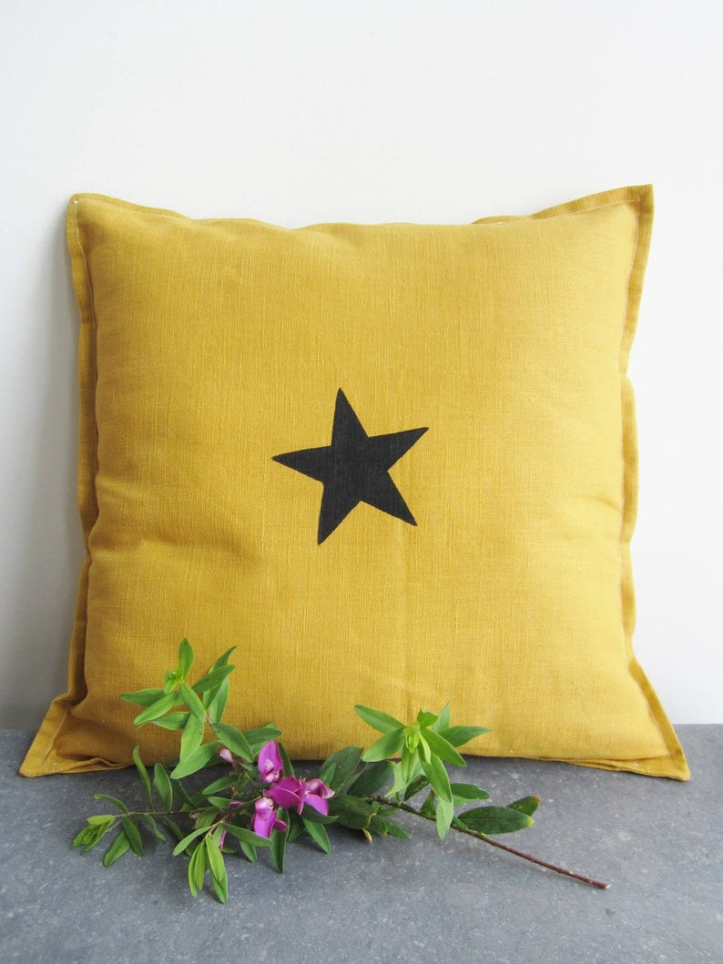 deco printemps slow made coussin lin