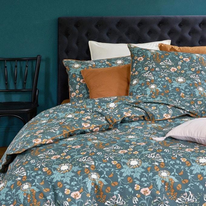 decoration fleur parure de lit foncee