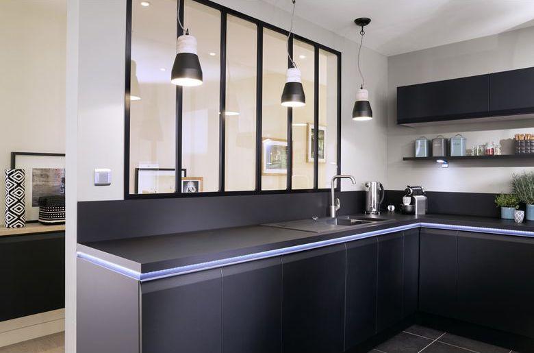 luminaire cuisine ruban led meuble