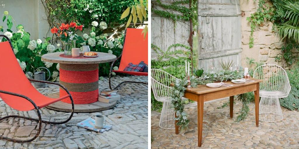 meuble jardin recup idee decoration