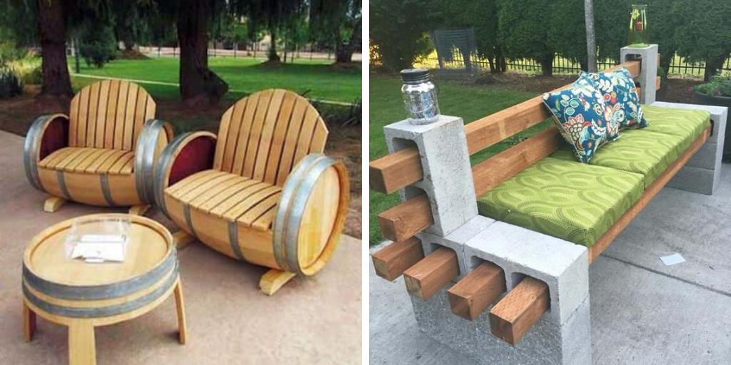 meuble jardin recup idee palette