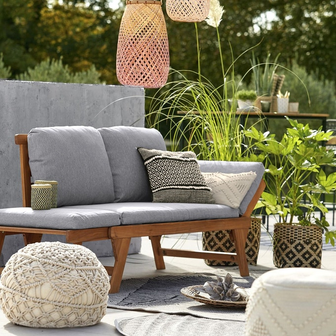 mobilier exterieur canape jardin deco modulable