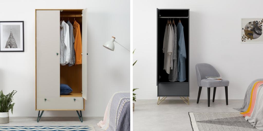 petite chambre armoires design pratiques