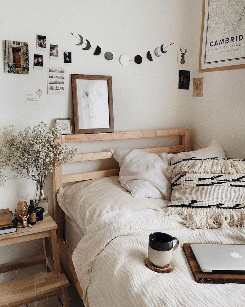 petite chambre decoration tete de lit