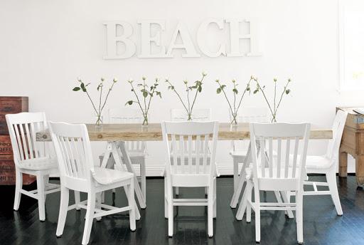 salle a manger deco bord de mer simplicite blanc