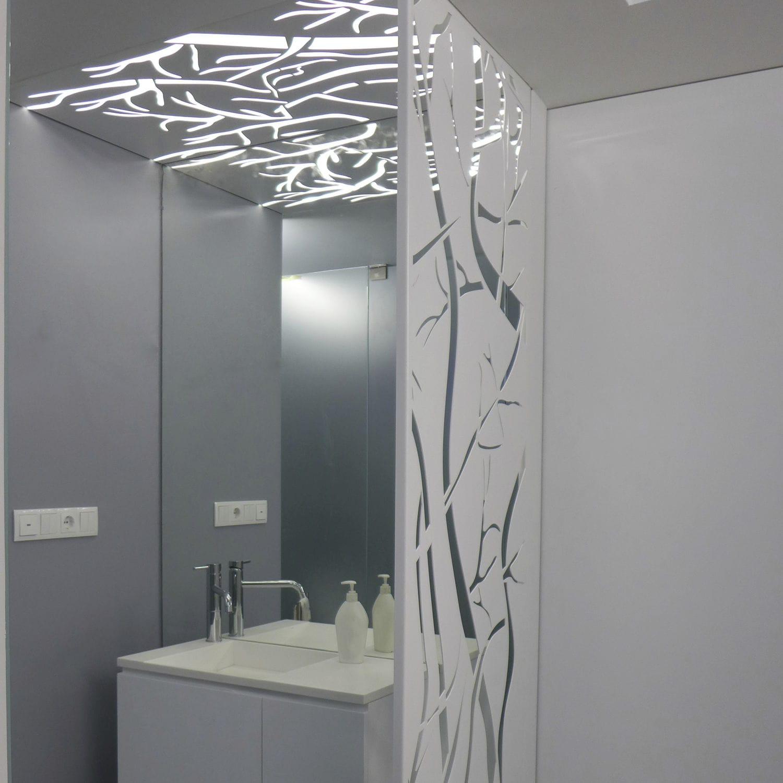salle de bain claustra aluminium decoration
