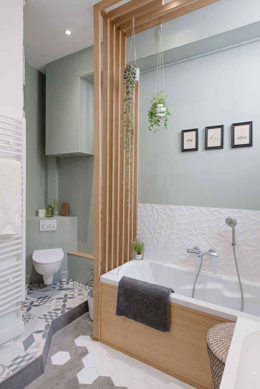 salle de bain claustra bois tasseaux separation toilettes