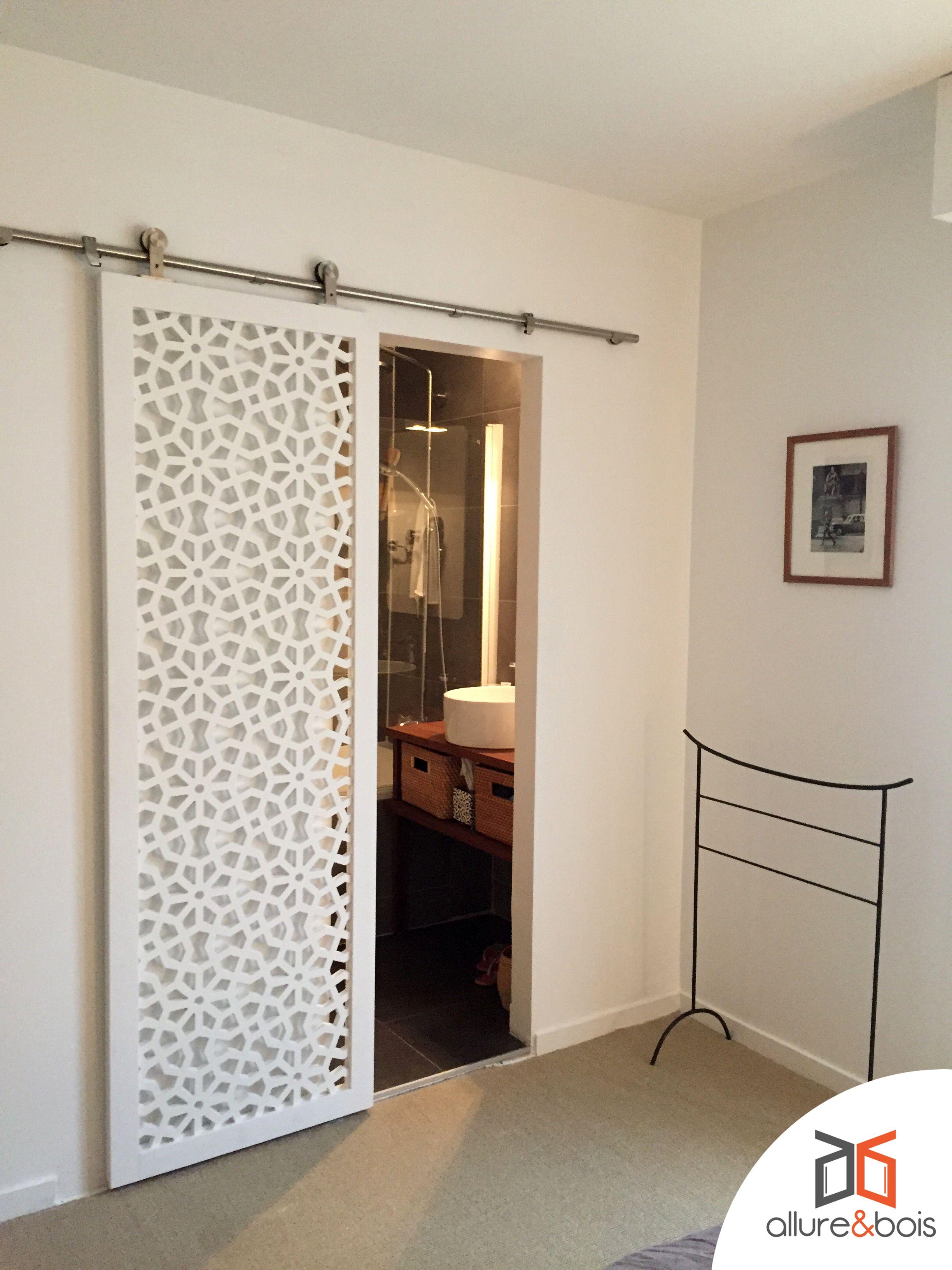 salle de bain claustra coulissant porte