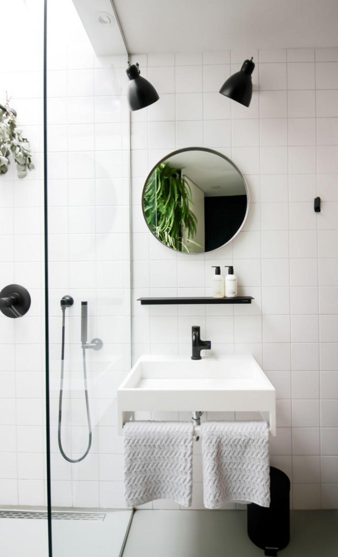 slow deco minimalisme salle de bain rangement