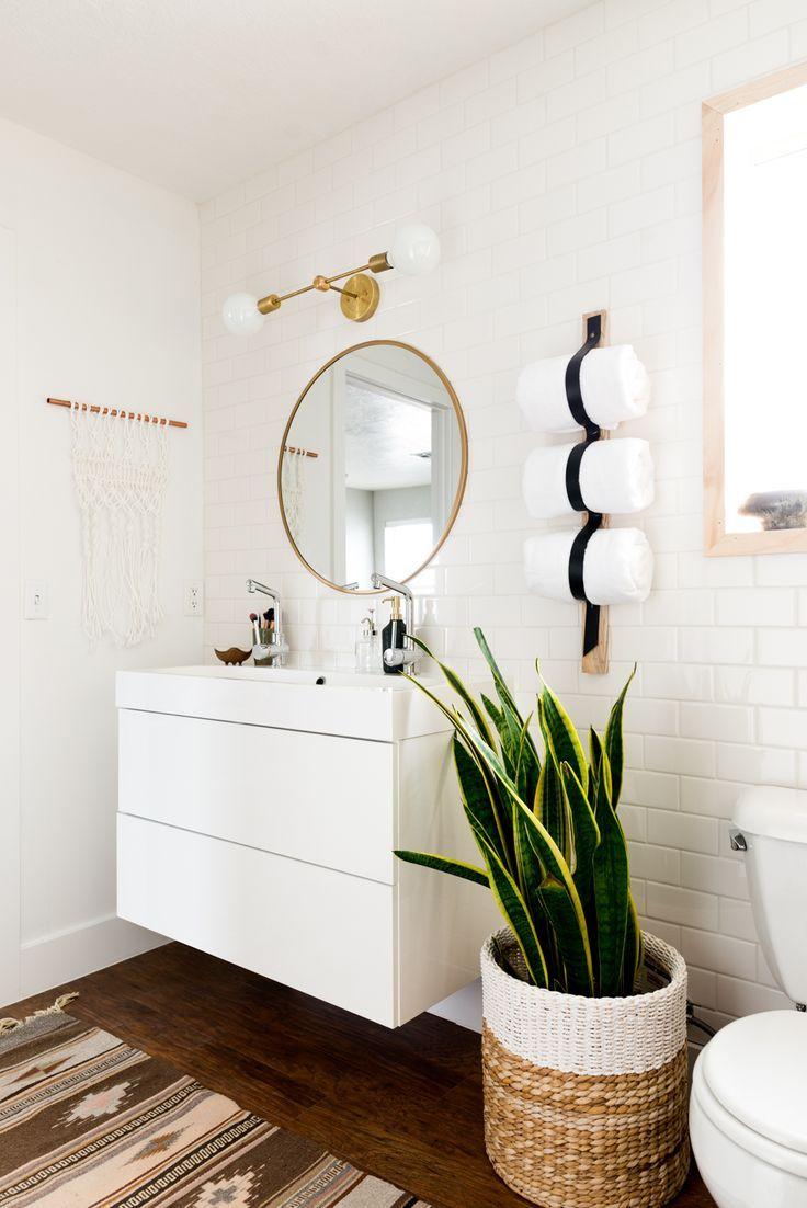 slow deco salle de bain minimaliste mobilier rangement