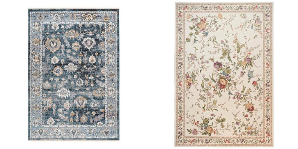 tapis a fleur classique